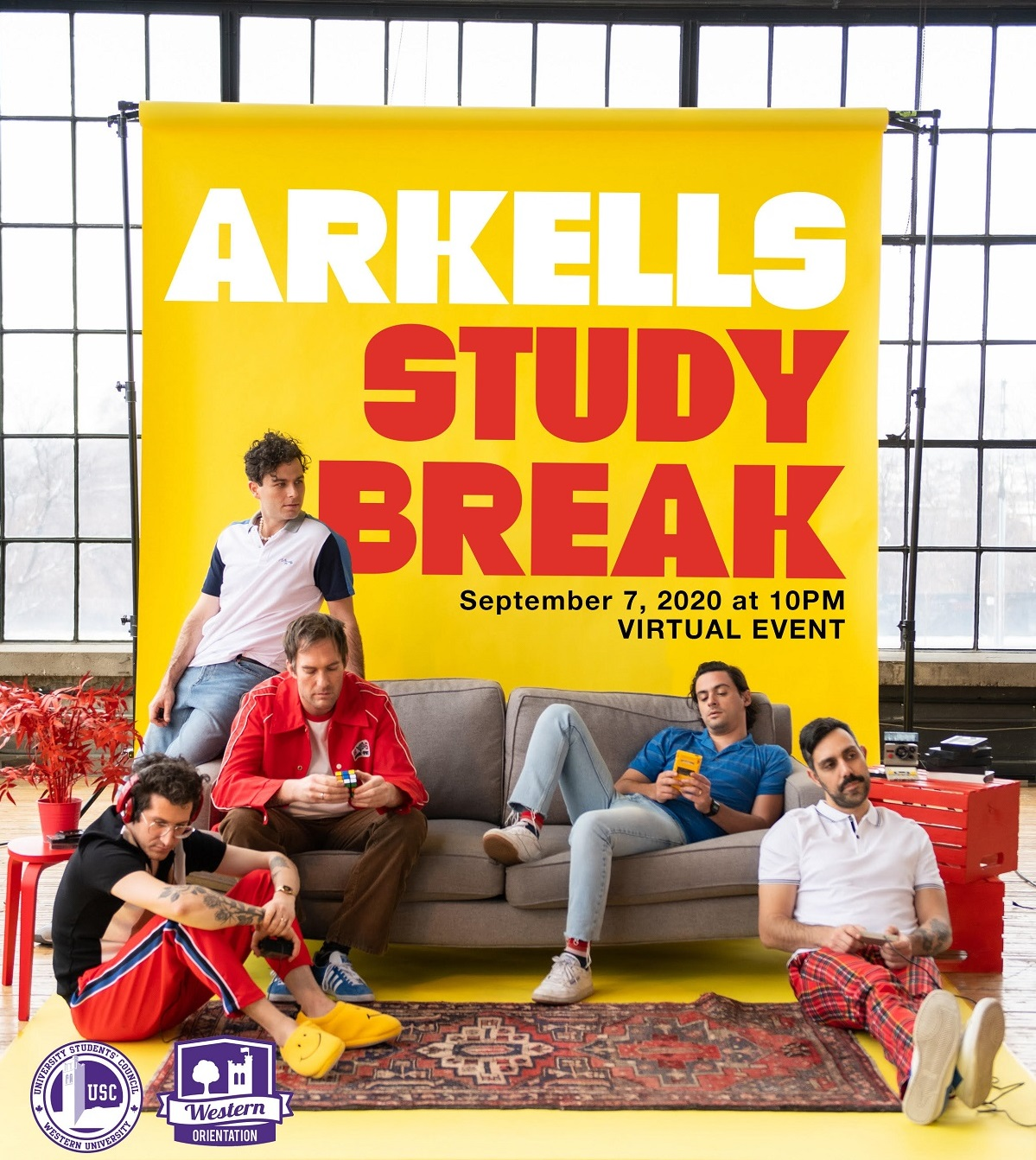 Arkells Study Break Poster